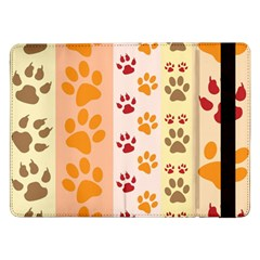 Paw Print Paw Prints Fun Background Samsung Galaxy Tab Pro 12 2  Flip Case