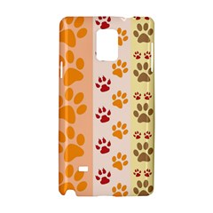 Paw Print Paw Prints Fun Background Samsung Galaxy Note 4 Hardshell Case