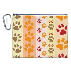 Paw Print Paw Prints Fun Background Canvas Cosmetic Bag (xxl)