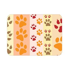 Paw Print Paw Prints Fun Background Double Sided Flano Blanket (mini)