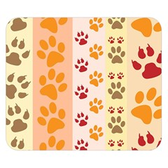Paw Print Paw Prints Fun Background Double Sided Flano Blanket (small)
