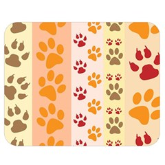Paw Print Paw Prints Fun Background Double Sided Flano Blanket (medium)