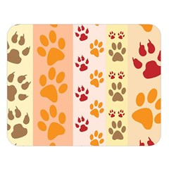Paw Print Paw Prints Fun Background Double Sided Flano Blanket (large)