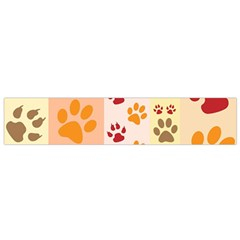 Paw Print Paw Prints Fun Background Flano Scarf (small)