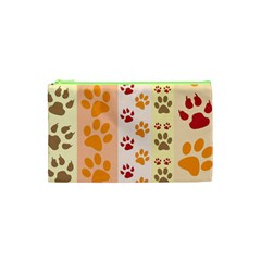 Paw Print Paw Prints Fun Background Cosmetic Bag (xs)