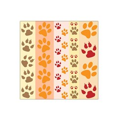 Paw Print Paw Prints Fun Background Satin Bandana Scarf