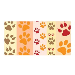 Paw Print Paw Prints Fun Background Satin Wrap
