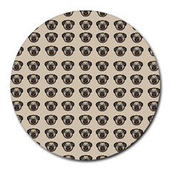 Puppy Dog Pug Pup Graphic Round Mousepads
