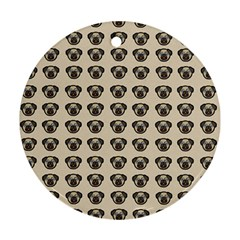 Puppy Dog Pug Pup Graphic Ornament (round)