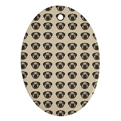 Puppy Dog Pug Pup Graphic Ornament (oval)