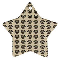 Puppy Dog Pug Pup Graphic Ornament (star)
