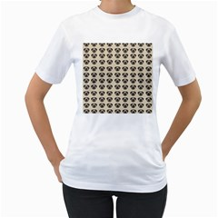 Puppy Dog Pug Pup Graphic Women s T Shirt (white) (two Sided)