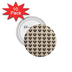 Puppy Dog Pug Pup Graphic 1 75  Buttons (10 Pack)