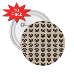 Puppy Dog Pug Pup Graphic 2 25  Buttons (10 Pack)