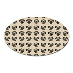 Puppy Dog Pug Pup Graphic Oval Magnet