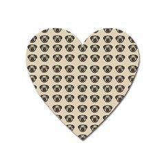 Puppy Dog Pug Pup Graphic Heart Magnet