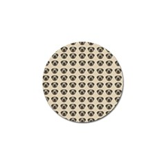 Puppy Dog Pug Pup Graphic Golf Ball Marker (4 Pack)