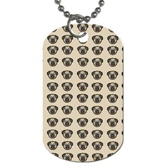 Puppy Dog Pug Pup Graphic Dog Tag (two Sides)