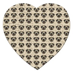 Puppy Dog Pug Pup Graphic Jigsaw Puzzle (heart)
