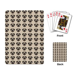 Puppy Dog Pug Pup Graphic Playing Card