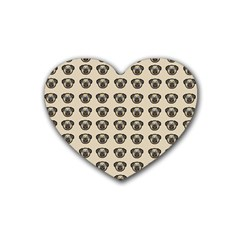 Puppy Dog Pug Pup Graphic Heart Coaster (4 Pack)