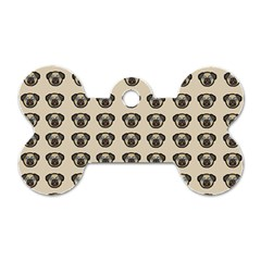 Puppy Dog Pug Pup Graphic Dog Tag Bone (two Sides)