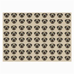 Puppy Dog Pug Pup Graphic Large Glasses Cloth (2 Side)