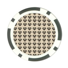 Puppy Dog Pug Pup Graphic Poker Chip Card Guard