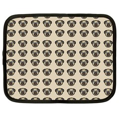 Puppy Dog Pug Pup Graphic Netbook Case (large)