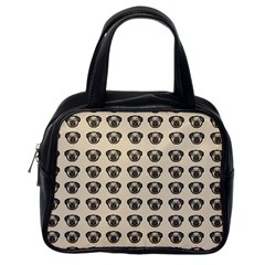Puppy Dog Pug Pup Graphic Classic Handbags (one Side)