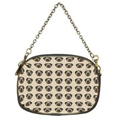 Puppy Dog Pug Pup Graphic Chain Purses (two Sides)
