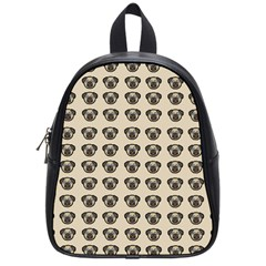 Puppy Dog Pug Pup Graphic School Bags (small)
