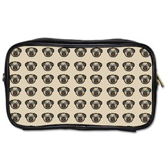 Puppy Dog Pug Pup Graphic Toiletries Bags 2 Side