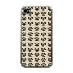 Puppy Dog Pug Pup Graphic Apple Iphone 4 Case (clear)