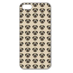 Puppy Dog Pug Pup Graphic Apple Seamless Iphone 5 Case (clear)