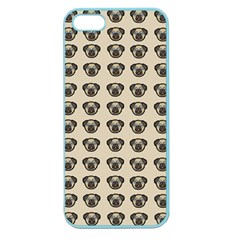 Puppy Dog Pug Pup Graphic Apple Seamless Iphone 5 Case (color)