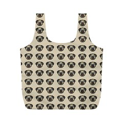 Puppy Dog Pug Pup Graphic Full Print Recycle Bags (M)