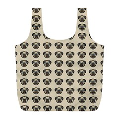 Puppy Dog Pug Pup Graphic Full Print Recycle Bags (l)