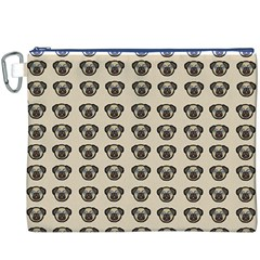 Puppy Dog Pug Pup Graphic Canvas Cosmetic Bag (xxxl)
