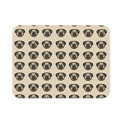 Puppy Dog Pug Pup Graphic Double Sided Flano Blanket (mini)