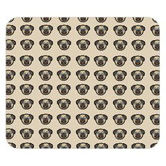 Puppy Dog Pug Pup Graphic Double Sided Flano Blanket (small)