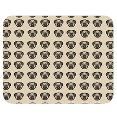 Puppy Dog Pug Pup Graphic Double Sided Flano Blanket (medium)