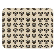 Puppy Dog Pug Pup Graphic Double Sided Flano Blanket (large)