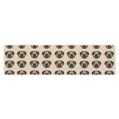 Puppy Dog Pug Pup Graphic Satin Scarf (oblong)