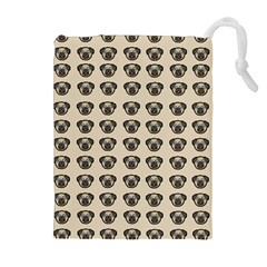 Puppy Dog Pug Pup Graphic Drawstring Pouches (extra Large)