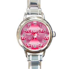 Seamless Repeat Repeating Pattern Round Italian Charm Watch