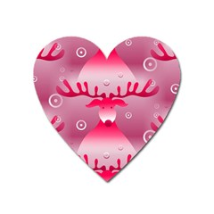 Seamless Repeat Repeating Pattern Heart Magnet
