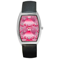 Seamless Repeat Repeating Pattern Barrel Style Metal Watch