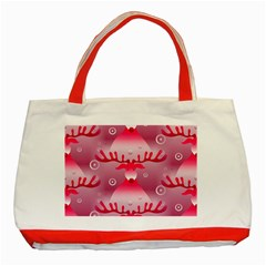Seamless Repeat Repeating Pattern Classic Tote Bag (red)