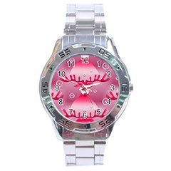 Seamless Repeat Repeating Pattern Stainless Steel Analogue Watch
